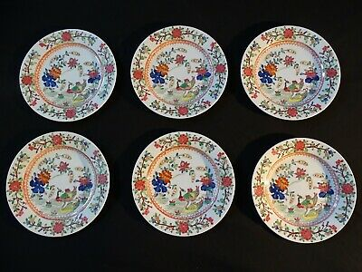 Set of 6 dishes Compagnie des Indes porcelain China -6 assiettes Chine début XX