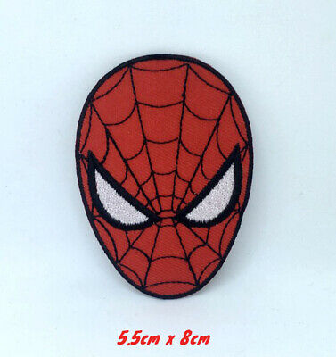 Spiderman Superhero face Marvel Small Iron on Sew on Embroidered Patch applique