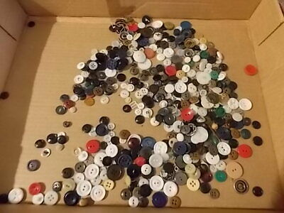 Vintage Lot of HUNDREDS of sewing buttons and buckles All sizes and colors