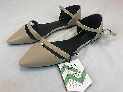 1ecefcf1599f Mio Marino D Orsay Pointed Toe Flats - Womens Ankle Strap Dress Shoes Tan  Size