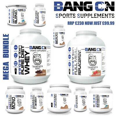 Diet Protein Powder, Meal Replacement, Fat Burners, Pre-Workout, Creatine etc...