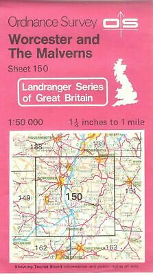 1984 No 150 32678  Landranger Ordnance Survey Map Worcester & Malverns  1:50 000