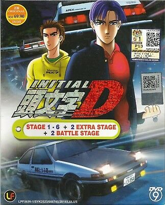 Anime DVD Initial D Stage 1-6 +2 Battle Stage +2 Extra Complete Japan Box #A663