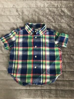 Ralph Lauren Baby Boy Clothes 9 - 12 Months 1 x Short Sleeve Shirt Used