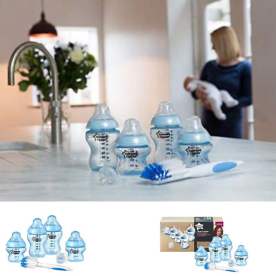 Baby Feeding Bottles Set Newborn Starter Kit Tommee Tippee Closer to Nature 0m+