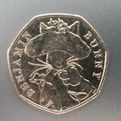 Commemorative UK Currency Fifty Pence 50p Beatrix Potter Benjamin Bunny 2017