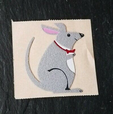 Vintage Personalized Expressions Fuzzy Felt BOW TIE MOUSE Sticker, 1980s