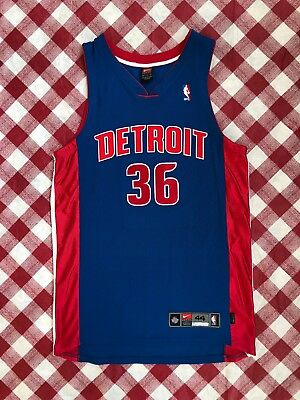 c74db2f01 Vintage 00's Rasheed Wallace Detroit Pistons Authentic Nike NBA Jersey Size  ...