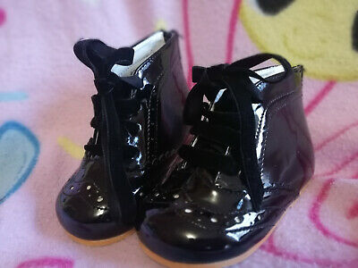 4a2d62dd54361d Tia London Baby Infant Girls Black Dress Shoes (8300) Brand New In Box Size