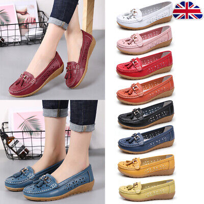 Women Ladies Casual Tassel Loafers Soft Faux Leather Boat Moccasin Pull On Shoes