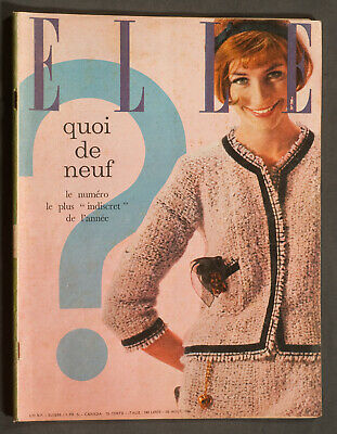 'Elle' French Vintage Magazine What Is New Issue 26 August 1960