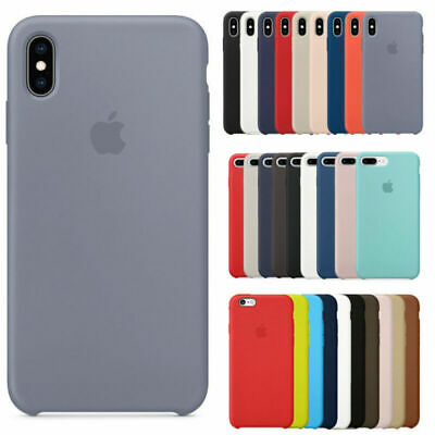 Case For Apple iPhone XS Max XR X 8 7 6s 6 Plus Genuine Original Silicone Cover