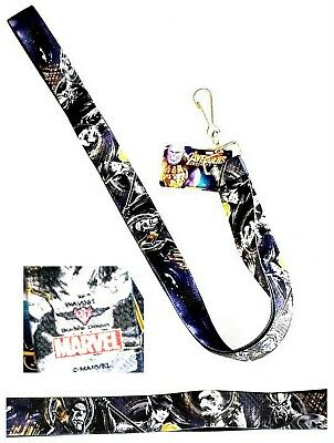 Marvel AVENGERS INFINITY WAR 4-Villains/Thanos Close Eyes LANYARD - NWT
