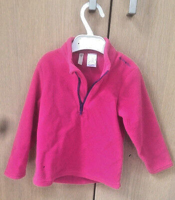 Quechua Pink Fleece Girls 3 Years Hardly Worn