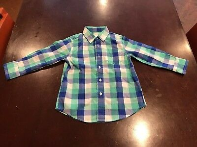 Crewcuts ~ Toddler Boys Shirt ~ Size 3 ~ Nwt Long Sleeve Buttons Down