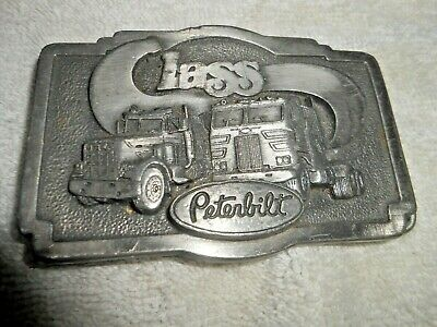 Vintage 1970'S Class Peterbilt Truck Co.belt Buckle Nice Vtg.