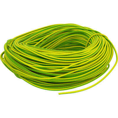 PVC Earth Sleeving 100m 3mm Green / Yellow