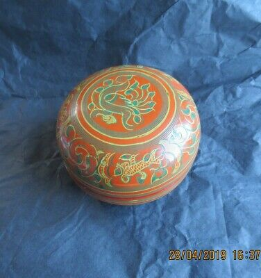 Chinese antique lacquerware  color painting box