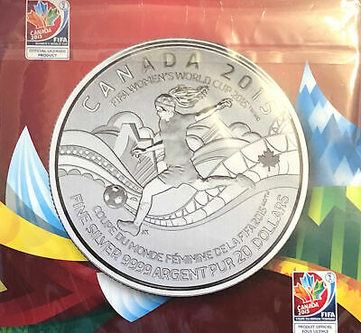 2015 Canada $20 for $20 FIFA Women's World Cup .9999 1/4oz Silver coin