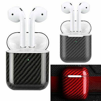 Carbon Fiber LED Cover Case for Apple AirPods 2nd Wireless Charging Case Skin