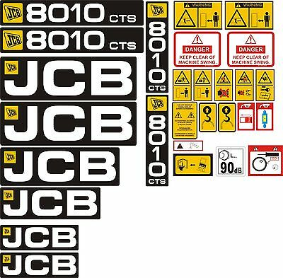 JCB 8020 CTS Mini Digger Decal Set