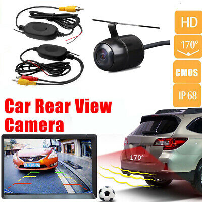 Car Rear View Backup Reverse Parking Kit Wireless Camera Night Vision Waterproof