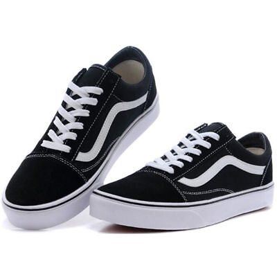 VAN Old Skate Shoes Black/White All Size Classic Canvas Sneakers UK3-UK9.5
