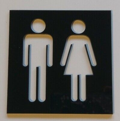 Acrylic Toilet Sign Male & Female, Disabled, Various range of colours -  Square