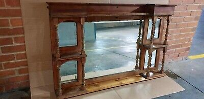 Antique Edwardian Mahogany Mantle Piece with Mirrors