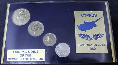 1982 | Last Mil Coins Of The Republic Of Cyprus UNC Coins | Coin Sets | KM Coins