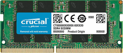 Crucial 16GB DDR4 2666MHz PC4-21300 CL19 SODIMM Laptop Memory RAM 1.2V