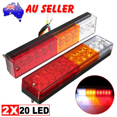 20 LED 2x TRAILER LIGHTS STOP TAIL INDICATOR REFLECTOR TRUCK CAMPER LIGHT 10-30V