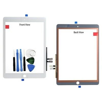For iPad 9.7 2018 Touch Screen Digitizer Glass Panel White 6th GEN A1893 + Tools