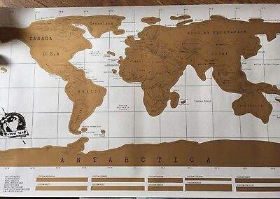 Large World Scratch Off Map