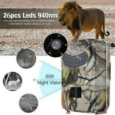Trail Camera 12MP 1080P Infrared Night Vision Game Wildlife Hunting Cam IP56 CA