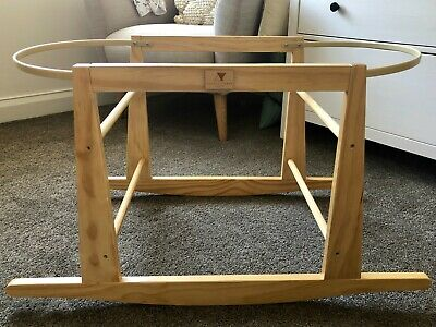 Moses Basket Bassinet Rocking Stand - Timber new