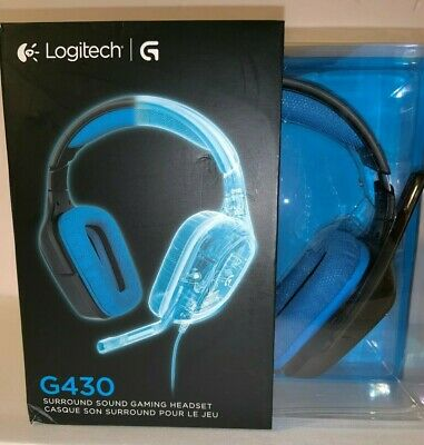 LOGITECH - G430 Wired Over the Ear Gaming Headset - Black PC