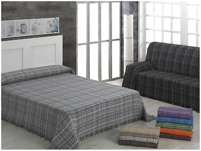 "ADP Home - Plaid/Colcha Multiusos ""JASPEADO"" Ideal para Cama o Sofá"