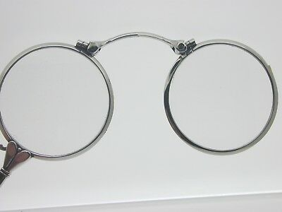 Antique Art Deco ALRAN lorgnettes glasses magnifying monacle spring opening