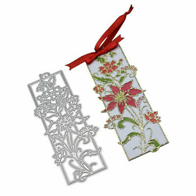 Flower Bookmark Metal Cutting Dies Diy Scrapbooking Emboss Paper Cards Stencil S