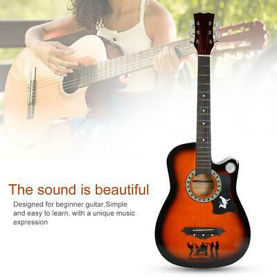 Professional 38 inch Acoustic Cutaway Folk Guitar with Guitar Accessories Kits