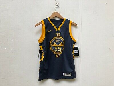 cheaper 2a089 eab6a NIKE KID'S GOLDEN State Warriors NBA City Jersey - 10-12 Years - Durant 35  - New