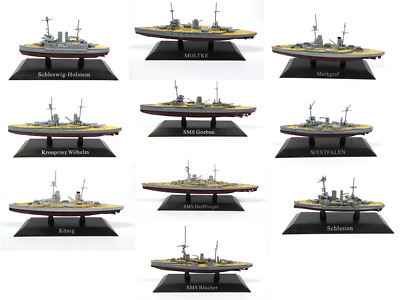 Lot of 10 ships of the german empire ww1 kaiserliche marine 1:1250 wsl4 boat