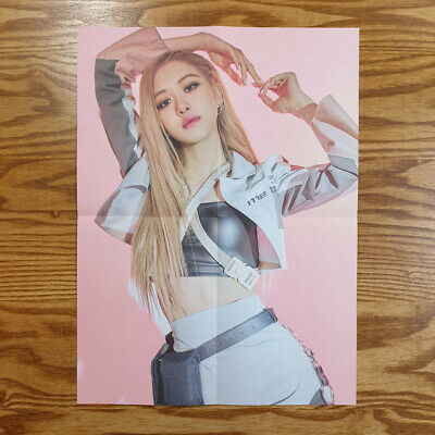 Rose Official Mini Poster BlackPink Kill This Love Folded Kpop Genuine