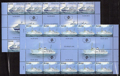 "2012 ALAND ""PASSENGER FERRIES/TRAGHETTI"" gutter pair strip (slightly damaged)"