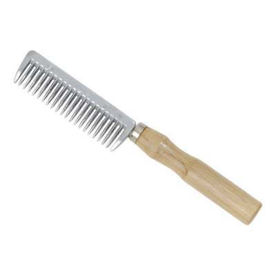 Shires Aluminium Mane Comb with Wooden Handle