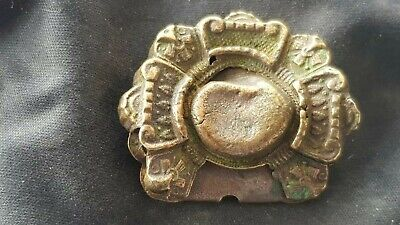 Very beautiful Post Medieval/Tudor copper brooch. Please read description. L134g