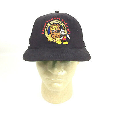 c9fcc65837771 Walt Disney Mickey Mouse MGM Studio Snapback Black Cap Goofys Hat Co Vtg