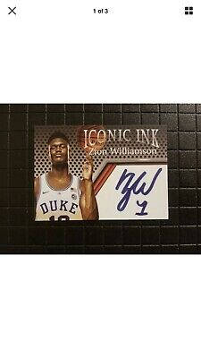 ZION WILLIAMSON 2018 Autograph Auto Edition Rookie Card RC Duke $$ HOT $$