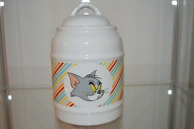 Barattolo Contenitore Porcellana Bianco Walt Disney Tom & Jerry Must Have